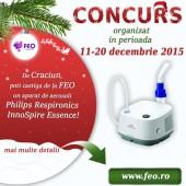 """CONCURS """"Castiga de Craciun un aparat de aerosoli Philips Respironics InnoSpire Essence"""""""