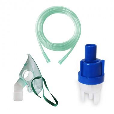 Kit accesorii universale pentru aparatele de nebulizare cu compresor RedLine RDA007, masca medie rotativa, furtun 2m si kit de nebulizare