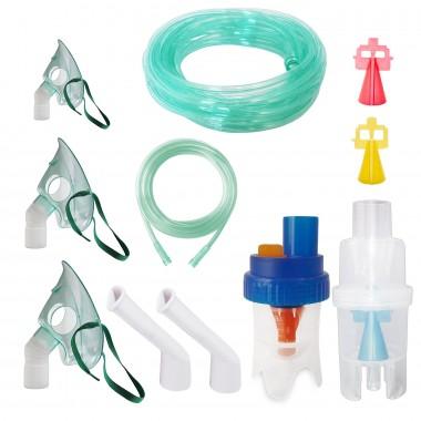 Kit accesorii universale Redline Ultra, pentru aparate aerosoli cu compresor, particule variabile, furtun de 6 si 2 m, masca bebelusi, copii si adulti