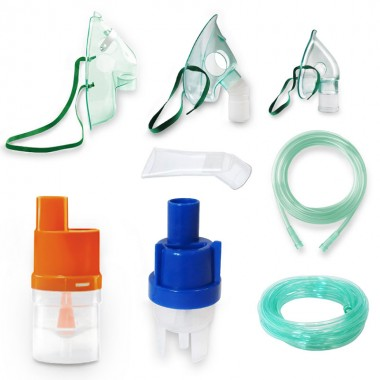 Kit accesorii universale RedLine Combo pentru aparatele de aerosoli cu compresor, 2 pahare de nebulizare, furtun 6m si 2m