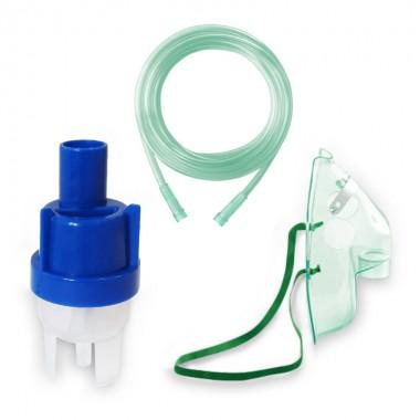 Kit accesorii universale pentru aparate de nebulizare cu compresor RedLine RDA008, masca adulti, furtun 2m si kit de nebulizare