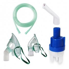Kit accesorii universale pentru aparate de nebulizare cu compresor RedLine RDA009, masca medie rotativa, masca bebelusi, furtun 2 m, kit de nebulizare, piesa bucala