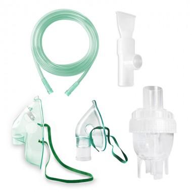 Kit accesorii universale RedLine RDA009T, pentru aparate aerosoli cu compresor, masca pediatrica, masca adulti, furtun 1.2 m, pahar de nebulizare, piesa bucala