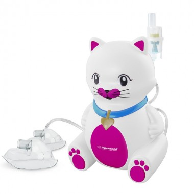 Aparat aerosoli Esperanza Kitty, nebulizator cu compresor, design pentru copii