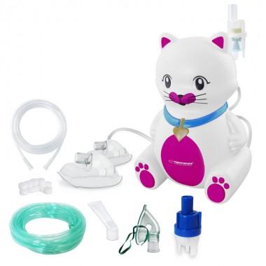 Aparat aerosoli Esperanza Kitty PRO, nebulizator cu compresor, 3 masti, furtun 6m