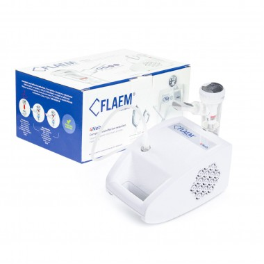 Aparat aerosoli FLAEM 4NEB, nebulizator profesional cu compresor, 4 moduri de nebulizare, reglarea particulelor