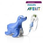 Aparat de aerosoli cu compresor Philips Respironics Sami the Seal, MMAD 2.80μm, Design preferat de copii, Sistem Active Venturi, Profesional