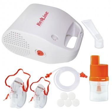 Aparat aerosoli cu compresor RedLine NB-212, MMAD 2.44 µm, 2 masti (de adulti si pediatrica)