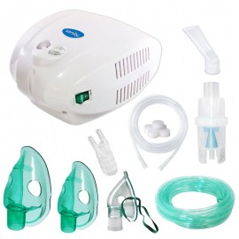 Aparat de aerosoli cu compresor Sanity Alergia Stop Inhaler PRO, MMAD variabil 3 - 5 µm, 3 masti (adulti, copii si bebelusi) cupa medicamente 10 ml
