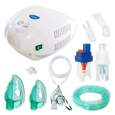 Aparat aerosoli cu compresor Sanity Alergia Stop Inhaler PRO, MMAD 3 µm, 3 masti (adulti, copii si bebelusi)