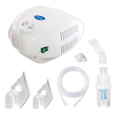 Aparat de aerosoli cu compresor Sanity Alergia Stop Inhaler, MMAD 3 µm, cupa medicamente 10 ml