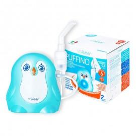 Aparat aerosoli VITAMMY Puffino, masca copii si adulti, 2 dimensiuni de particule, nebulizator cu compresor