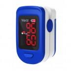 Pulsoximetru RedLine FS10C, alb-albastru, indica nivelul de saturatie a oxigenului, masoara rata pulsului