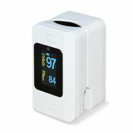 Pulsoximetru Contec CMS50D4, Alb, Indica nivelul de saturatie a oxigenului din sange, Masoara rata pulsului