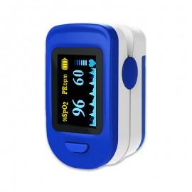 Pulsoximetru RedLine FS20C, alb-albastru, indica nivelul de saturatie a oxigenului, masoara rata pulsului