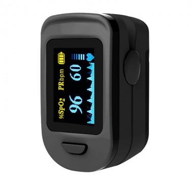 Pulsoximetru RedLine FS20C, negru,  indica nivelul de saturatie a oxigenului, masoara rata pulsului