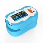 Pulsoximetru RedLine FS20P, pentru copii 2-12 ani, Albastru, Indica nivelul de saturatie a oxigenului din sange, Masoara rata pulsului