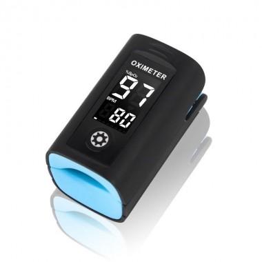 Pulsoximetru Vitammy Creative PC60A, indica nivelul de saturatie a oxigenului, masoara rata pulsului, Negru