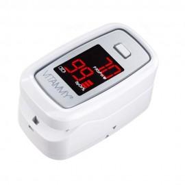 Pulsoximetru Vitammy Sat, ecran luminos, rezistent, indica nivelul de saturatie a oxigenului, masoara ritmul cardiac