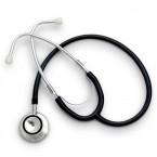 Stetoscop Little Doctor LD Prof I, stetoscop metalic utilizabil pe ambele parti, diafragma mare, Negru/Inox