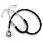 Stetoscop Little Doctor LD Prof II, stetoscop metalic utilizabil pe ambele parti, diafragma mica, Negru/Inox