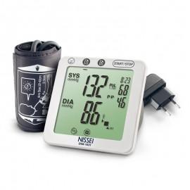 Tensiometru electronic de brat Nissei DSK-1031, memorare 60 de seturi, afisaj LCD, detectie aritmie si body motion