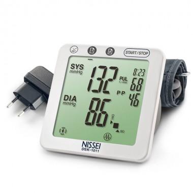 Tensiometru electronic de brat Nissei DSK-1011, memorare 2 x 60 de valori, afisaj LCD