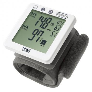 Tensiometru electronic de incheietura Nissei WSK 1011, memorare 60 de valori, clasificare OMS, detectarea aritmiei