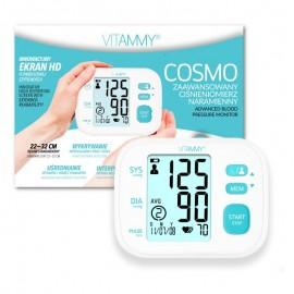 Tensiometru electronic de brat VITAMMY Cosmo, detectare aritmie, memorare 2 utilizatori, manseta 22-32 cm, Alb/Turcoaz