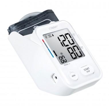 Tensiometru electronic de brat VITAMMY Next 3, mufa USB, detectie miscarea corpului, memorare 2 utilizatori, manseta 22-40 cm, Alb