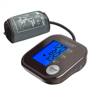 Tensiometru electronic de brat VITAMMY Ultra Beat, manseta 22-42 cm, Chocolate/Metalic