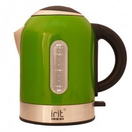 Fierbator Irit IR-1323, 2200 W, 1.7 l, carcasa inox, oprire automata, baza rotativa 360°, verde