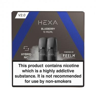 Pod HEXA V2, pachet 2 rezerve, aroma coacaze, 10 mg nicotina