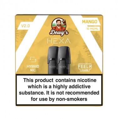 Pod HEXA V2, pachet 2 rezerve, aroma mango, 10 mg nicotina