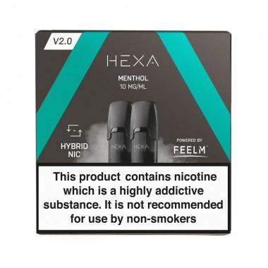 Pod HEXA V2, pachet 2 rezerve, aroma mentol, 10 mg nicotina