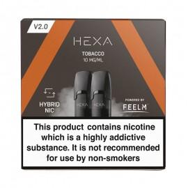 Pod HEXA V2, pachet 2 rezerve, aroma tutun, 10 mg nicotina