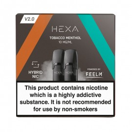 Pod HEXA V2, pachet 2 rezerve, aroma tutun mentol, 10 mg nicotina