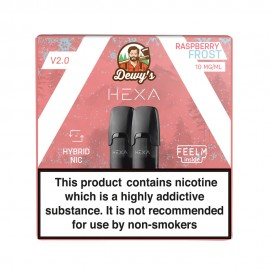 Pod HEXA V2, pachet 2 rezerve, aroma zmeura racoritoare, 10 mg nicotina