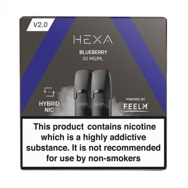 Pod HEXA V2, pachet 2 rezerve, aroma coacaze, 20 mg nicotina