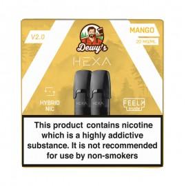 Pod HEXA V2, pachet 2 rezerve, aroma mango, 20 mg nicotina
