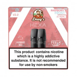 Pod HEXA V2, pachet 2 rezerve, aroma zmeura racoritoare, 20 mg nicotina