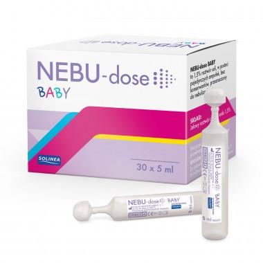 Solutie salina Solinea NEBU-dose Baby concentratie 1.5 %, 30 monodoze x 5 ml, pentru bebelusi si copii