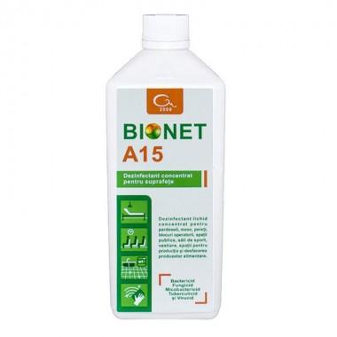 Dezinfectant concentrat pentru suprafete Bionet A15, 1L
