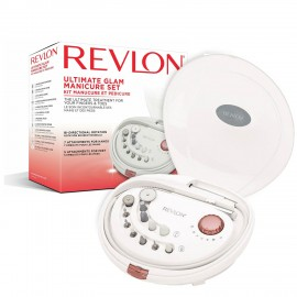 Set manichiura-pedichiura freza electrica REVLON Pro Collection Ultimate Glam RVSP3526E, Alb