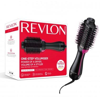 Perie electrica fixa REVLON One-Step Hair Dryer & Volumizer, RVDR5222E2, pentru par mediu si lung