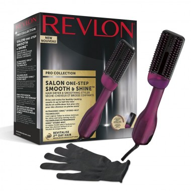Perie electrica REVLON Pro Collection Smooth & Shine, RVDR5232, cu abur, 3 trepte de temperatura