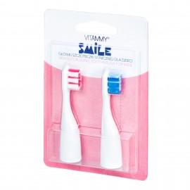 Set 2 rezerve periuta de dinti VITAMMY Smile, Albastru-Roz