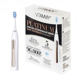 Periuta de dinti electrica VITAMMY Platinum, 96000 vibratii/min, 5 moduri de periaj, 2 capete incluse