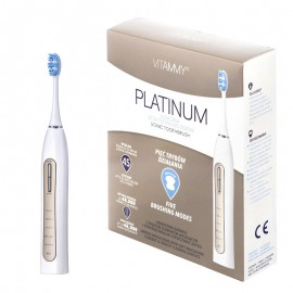 Periuta de dinti electrica VITAMMY Platinum, 48000 vibratii/min, 5 moduri de periaj, 2 capete incluse