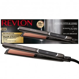 Placa de indreptat parul REVLON Salon Straight Copper Smooth RVST2175E, afisaj LCD
